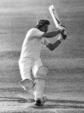 Ian Botham Batting For England V. Pakistan, August 1982 Fotografisk trykk