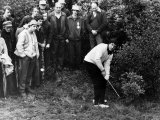 Severiano Ballesteros i ruffen under Colgate World Matchplay Championship i Wentworth Fotoprint