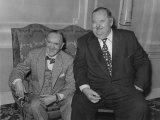 Laurel and Hardy - Comedy Duo Stan Laurel and Oliver Hardy Pictured in London Photographic Print
