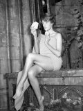 Actress Maggie Smith in a State of Undress as She Plays Strip Poker Photographic Print