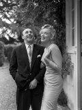 Marilyn Monroe with Donald Zec Mirror Writer, June 1960 Fotografie-Druck