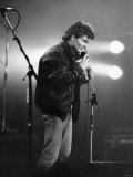 Morten Harket, Lead Singer of the Norwegian Pop Group A-Ha, Performing Live on Stage, December 1986 Photographic Print
