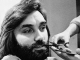 George Bests Having His Beard Trimmed at the Barbers May 1974 Photographic Print