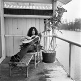 Jimmy Page of Band Led Zeppelin, January 1970 Fotografisk tryk