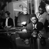 Dizzy Gillespie at Fort Belvedere Near Ascot, with Buck Clayton and Bud Freeman Photographic Print