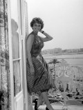 Sophia Loren at Cannes Film Festival May 1958 Fotografisk tryk
