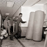 Cassius Clay in Training Punching Bags, Boxing, August 1966 Photographic Print