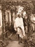 Gandhi During Tour of the Lancaster Cotton Mills, September 1931 Photographic Print