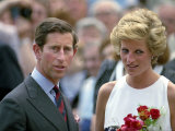 Princess Diana and Prince Charles Overseas Visit to Hungary May 1990 Photographic Print