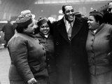 Duke Ellington Jazz Musician and Friends Arrive at St Pancreas Station in London Photographic Print