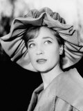 Actress Sylvia Syms Wearing Fancy Hat Photographic Print