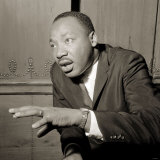 Martin Luther King Arrived in London Yesterday He Gave a Press Conference at the Savoy Photographic Print