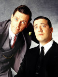 Stephen Fry and Hugh Laurie December 2001 Dressed as Jeeves and Wooster Photographic Print