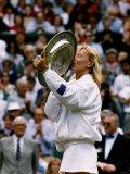 Martina Navratilova After Winning Her Ninth Wimbledon Championship Photographic Print