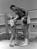 Cassius Clay aka Muhammad Ali During Training For Heavyweight Title Fight Against Henry Cooper Reproduction photographique