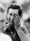 Prince Charles Off the Field During a Game of Polo June 1987 Fotografisk tryk