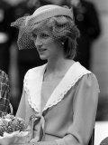 Prince Charles and Princess Diana July 1983 Royal Visits Canada Prince and Princess of Wales Fotografisk tryk