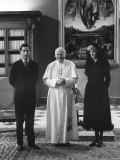 Pope John Paul II Meets with Prince Charles and Princess Diana in the Vatican Fotografisk tryk