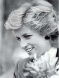 Princess Diana of Wales Visiting the Age Concern Day Centre in Durham Photographic Print