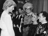 Dancer Wayne Sleep Meets Princess Diana at Palladium Theatre After Woman Golden Jubilee Concert Photographic Print