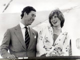 Prince Charles and Princess Diana on Board the Royal Yacht Britannia Whilst on Honeymoon, 1981 Photographic Print