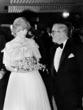 Princess Diana and Sir Richard Attenborough at London Premiere of Oscar Winning Film Gandhi Photographic Print