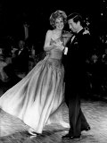 Princess Diana and Prince Charles Dancing Together in Government House Photographic Print
