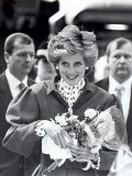Princess Diana of Wales Arriving at Newcastle Central Station Photographic Print