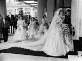Prince Charles and Princess Diana After Their Wedding at St Pauls Cathedral Fotografisk tryk