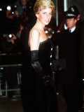 Princess Diana at the Royal Premiere of Dangerous Liaisons in London March 1989 Photographic Print