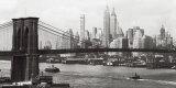 Lower Manhattan and the Brooklyn Bridge, c.1937 Plakater