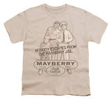 Youth: Andy Griffith - Mayberry Jail T-Shirt