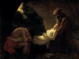The Death of Atala Giclée-tryk af Anne-Louis Girodet de Roussy-Trioson