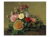 Still-Life With Flowers Giclee Print by Georg Friedrich Kersting