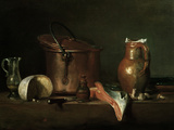 Still-Life With Copper Pot Giclée-Druck von Jean-Baptiste Simeon Chardin