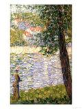 Promenade matinale Reproduction procédé giclée par Georges Seurat