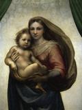 The Sistine Madonna Giclée-tryk af Raphael,