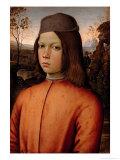 Portrait of a Boy Giclée-tryk af Bernardino di Betto Pinturicchio