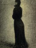 Woman in Black Reproduction procédé giclée par Georges Seurat