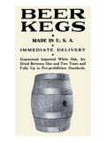 Beer Kegs Premium Giclée-tryk