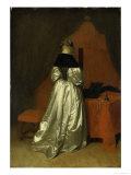 A Lady in White Satin Lámina giclée por Gerard Terborch