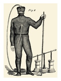 Diving Gear with suit and air pump Poster