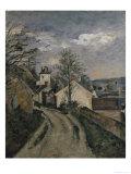 The House of Dr Gachet Lámina giclée por Paul Cézanne