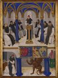 St. Bernard Teaching Giclee Print by Jean Fouquet