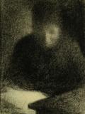 La Liseuse Reproduction procédé giclée par Georges Seurat