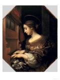 St. Cecilia Giclée-tryk af Carlo Dolci