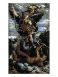 The Archangel Michael Giclée-tryk af Dosso Dossi