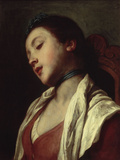 Slumbering Girl Giclée-tryk af Pietro Antonio Rotari