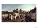 Dresden Market Square Impressão giclée por  Canaletto