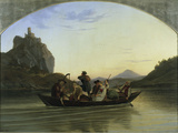 Crossing the Elbe Giclee Print by Ludwig Richter